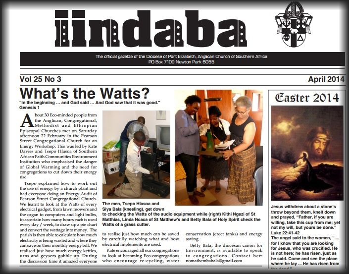 What's the Watts: Diocese of Port Elizabeth sets about Energy Audit