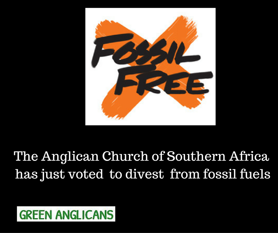 The Anglican Church of Southern Africa votes to divest from fossil fuels