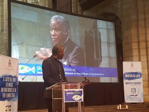 Water is sacred – Archbishop Thabo speaks at the International Justice Conference