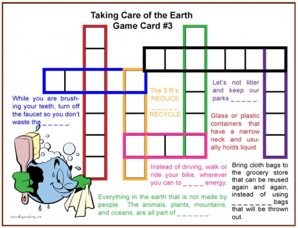 Green anglicans crossword puzzle care for creation no comments ccuart Image collections