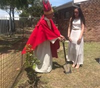 Diocese of  Saldanha Bay : St Chad's Table View plants trees at confirmation Service