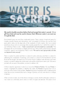Water is Sacred Sermon