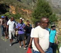 Young Green Anglicans hike Table Mountain