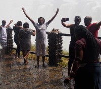 Praising God  at Victoria Falls!