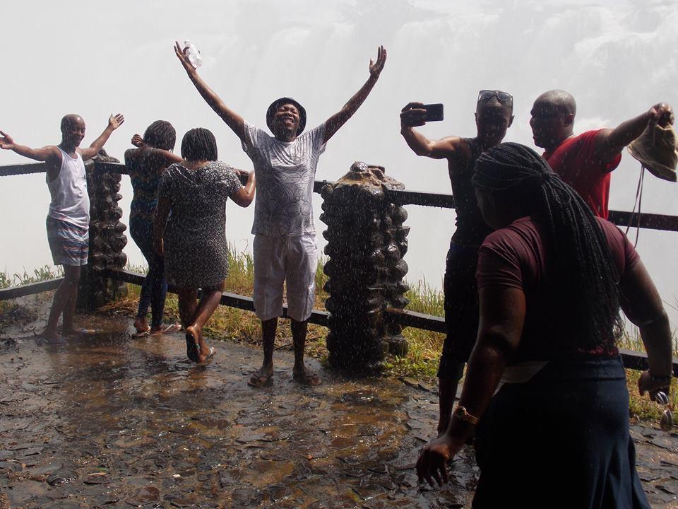 Praising God  at Victoria Falls!