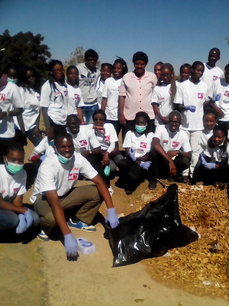 Anglican Students clean up a hospital in Namibia