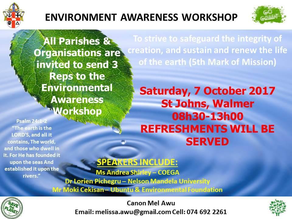 Diocese of Port Elizabeth's Environmental Awareness Workshop