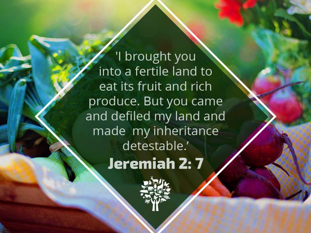 March 31 – Jeremiah 2v7