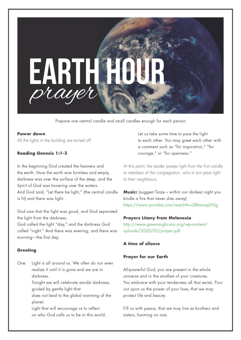 Earth Hour Prayer