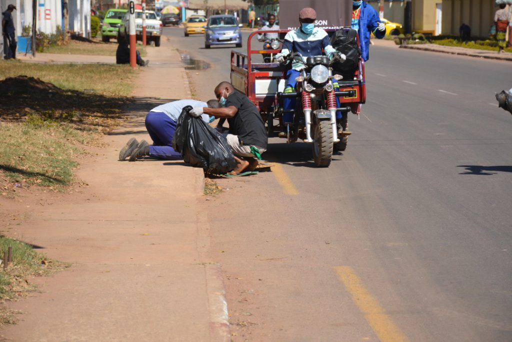 Clean up Day in Lubumbashi.